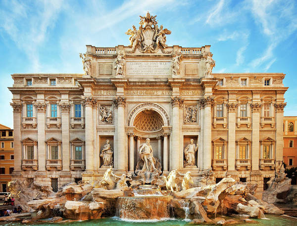 Empty Art Print featuring the photograph Trevi Fountain, Rome by Nikada