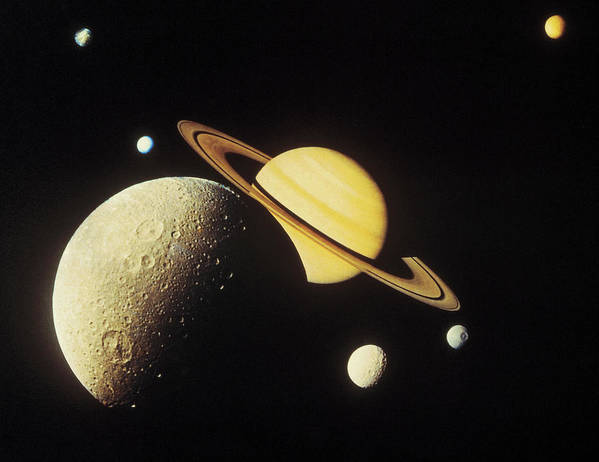 Galaxy Art Print featuring the photograph View Of Planets In The Solar System by Stockbyte