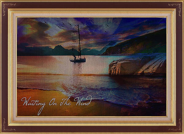 Yacht Art Print featuring the mixed media Waiting On The Wind by Clive Littin