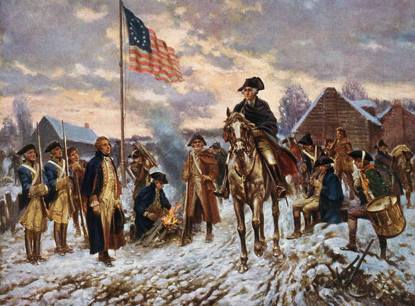 George Washington Art Print featuring the painting Washington at Valley Forge by War Is Hell Store