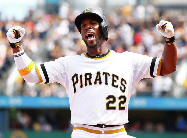 Following Art Print featuring the photograph Andrew Mccutchen by Jared Wickerham
