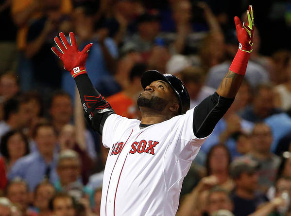 People Art Print featuring the photograph David Ortiz by Winslow Townson