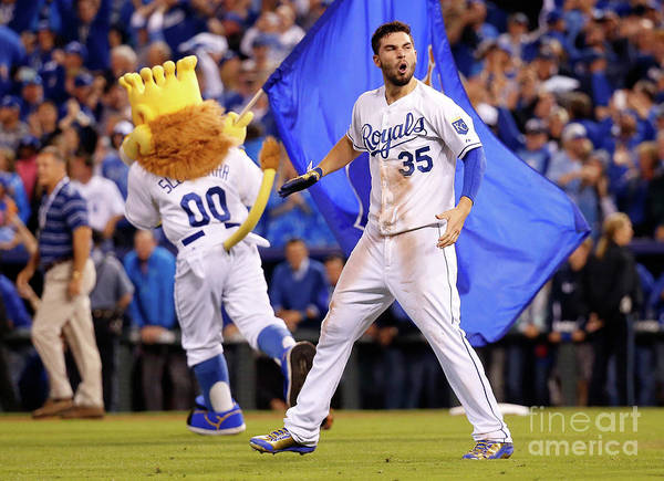 People Art Print featuring the photograph Eric Hosmer by Rob Carr
