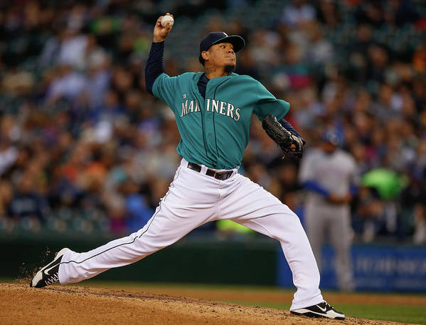 People Art Print featuring the photograph Felix Hernandez by Otto Greule Jr