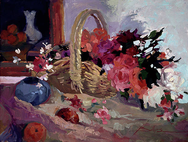 Still Life Paintings Art Print featuring the painting From the Garden by Betty Jean Billups