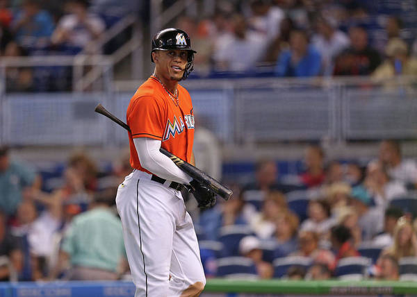 Three Quarter Length Art Print featuring the photograph Giancarlo Stanton by Rob Foldy