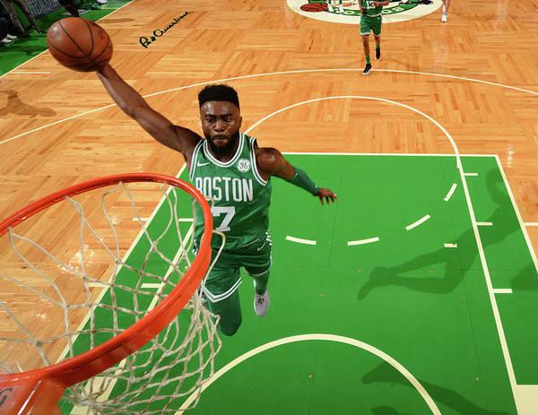 Nba Pro Basketball Art Print featuring the photograph Jaylen Brown by Jesse D. Garrabrant