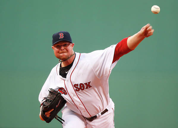 American League Baseball Art Print featuring the photograph Jon Lester by Jared Wickerham