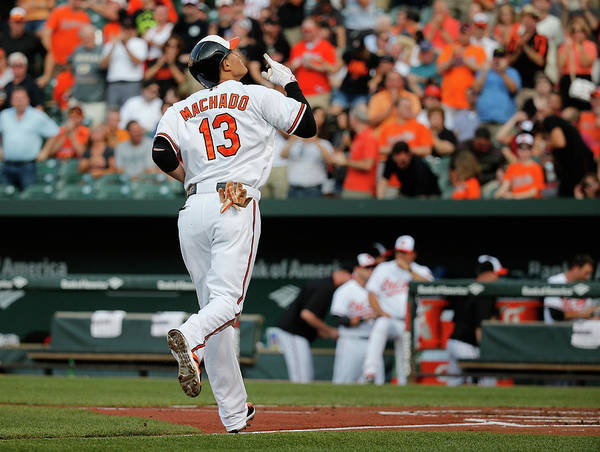 People Art Print featuring the photograph Manny Machado by Rob Carr