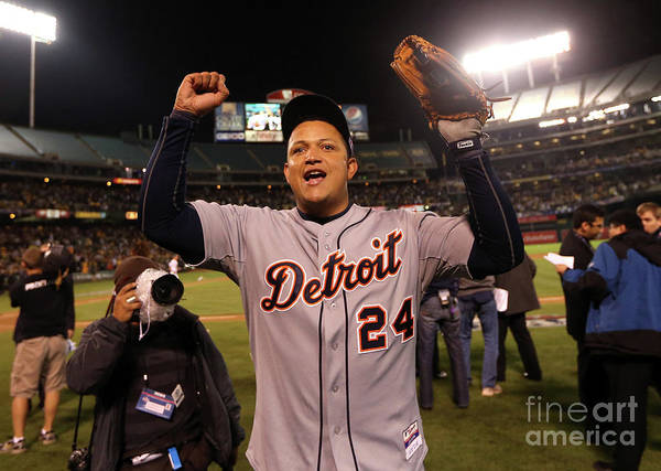 American League Baseball Art Print featuring the photograph Miguel Cabrera by Ezra Shaw