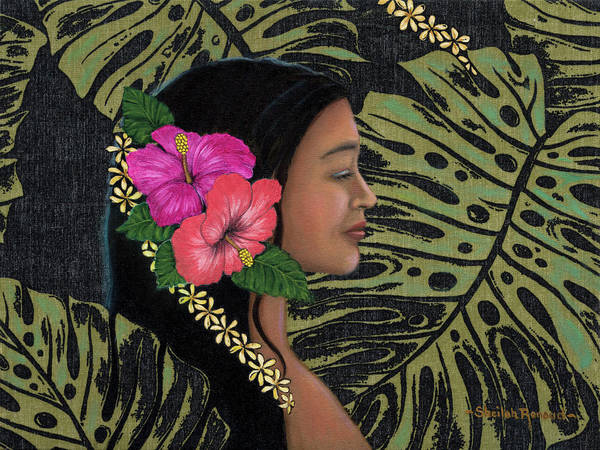 Hawaiian Art Print featuring the painting Monstera Dreamscape by Sheilah Renaud