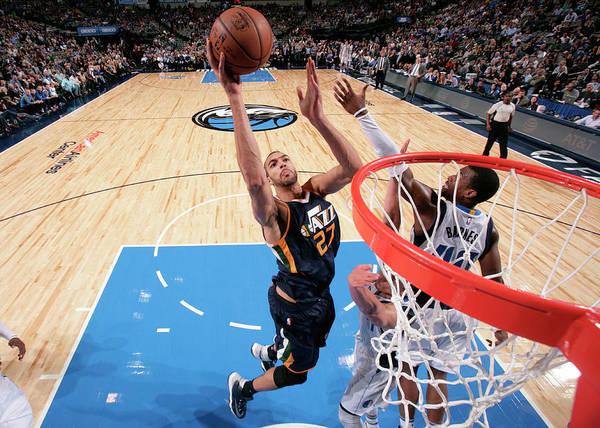 Nba Pro Basketball Art Print featuring the photograph Rudy Gobert by Glenn James