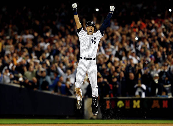 Ninth Inning Art Print featuring the photograph Derek Jeter by Elsa