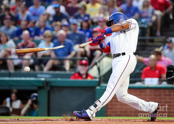 American League Baseball Art Print featuring the photograph Elvis Andrus by Richard Rodriguez