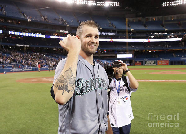 People Art Print featuring the photograph James Paxton by Tom Szczerbowski