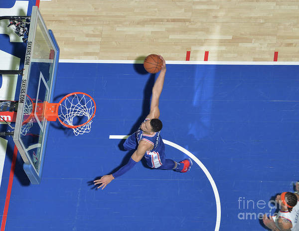 Sports Ball Art Print featuring the photograph Ben Simmons by Jesse D. Garrabrant