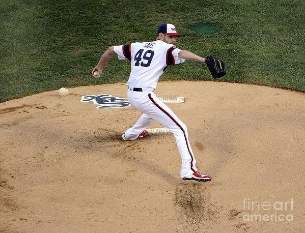 People Art Print featuring the photograph Chris Sale by David Banks