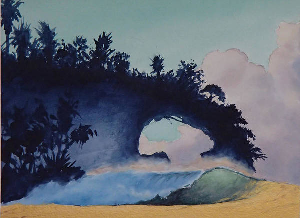 Ocean Art Print featuring the painting Untitled 4 by Philip Fleischer