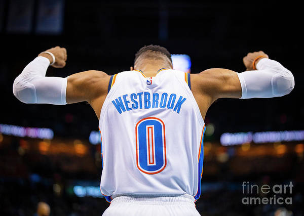 Nba Pro Basketball Art Print featuring the photograph Russell Westbrook by Zach Beeker