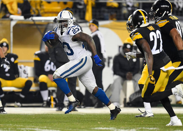 People Art Print featuring the photograph Indianapolis Colts v Pittsburgh Steelers by Joe Sargent