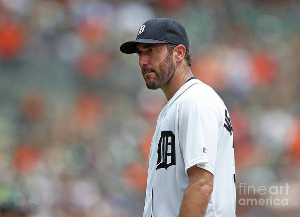 People Art Print featuring the photograph Justin Verlander by Leon Halip