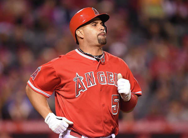 People Art Print featuring the photograph Albert Pujols by Harry How