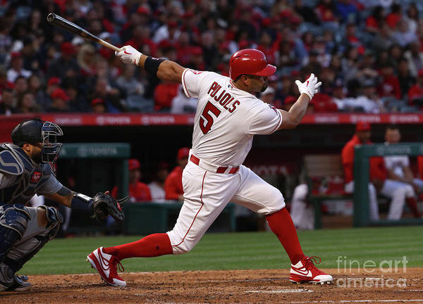 People Art Print featuring the photograph Albert Pujols by Victor Decolongon