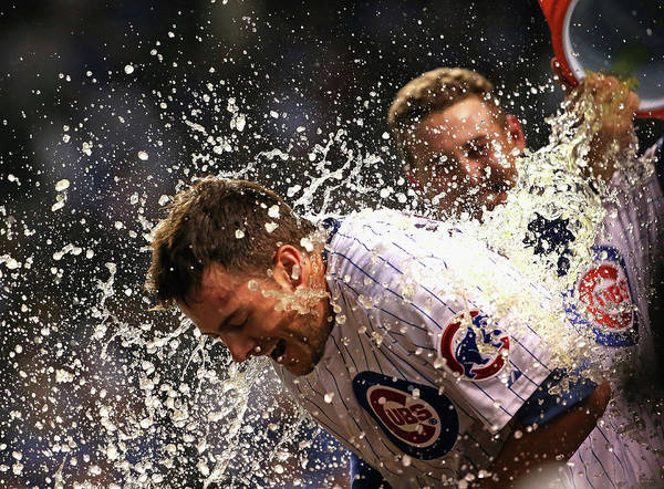 People Art Print featuring the photograph Anthony Rizzo and Kris Bryant by Jonathan Daniel