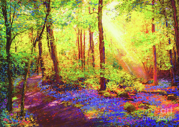 Landscape Art Print featuring the painting Bluebell Blessing by Jane Small