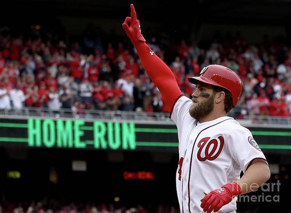People Art Print featuring the photograph Bryce Harper by Win Mcnamee