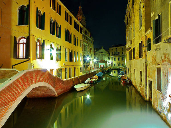 Outdoors Art Print featuring the photograph Canal in Venice by Bernd Schunack