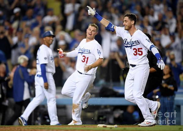 People Art Print featuring the photograph Cody Bellinger and Joc Pederson by Harry How