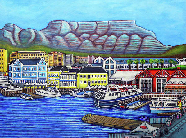 Cape Town Art Print featuring the painting Colors of Cape Town by Lisa Lorenz