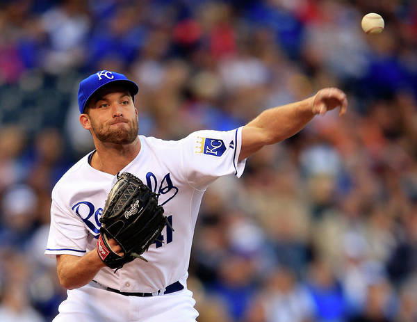 American League Baseball Art Print featuring the photograph Danny Duffy by Jamie Squire
