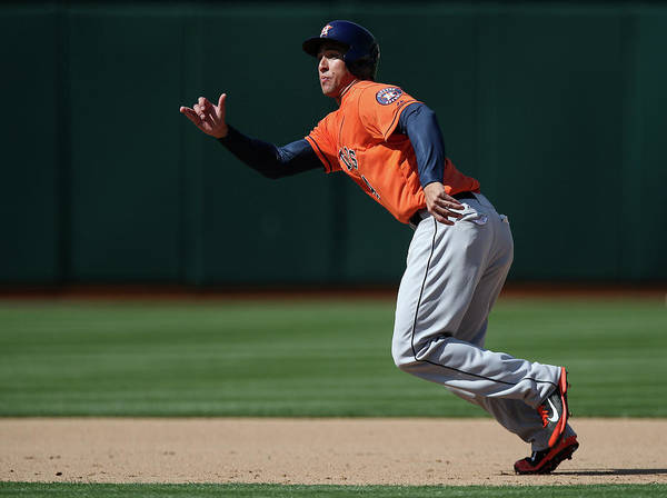 American League Baseball Art Print featuring the photograph George Springer by Brad Mangin