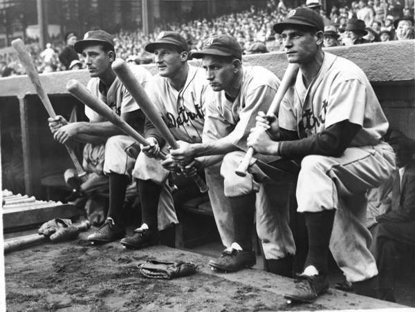 People Art Print featuring the photograph Hank Greenberg and Goose Goslin by Fpg