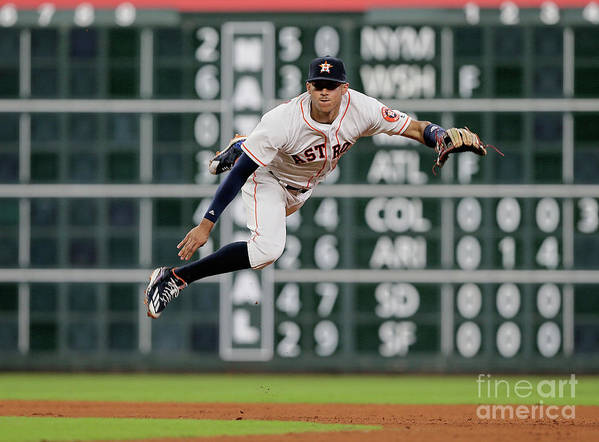 People Art Print featuring the photograph Ian Desmond and Carlos Correa by Bob Levey