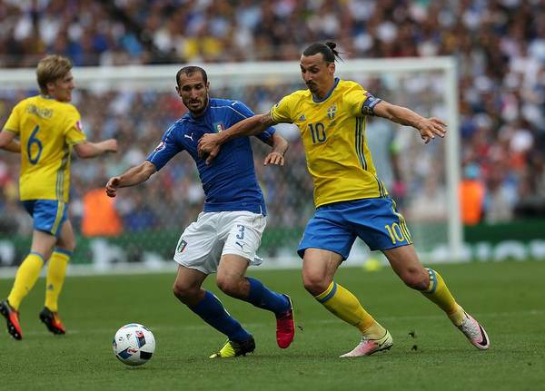 Zlatan Ibrahimovic Art Print featuring the photograph Italy v Sweden - Euro 2016 by Anadolu Agency