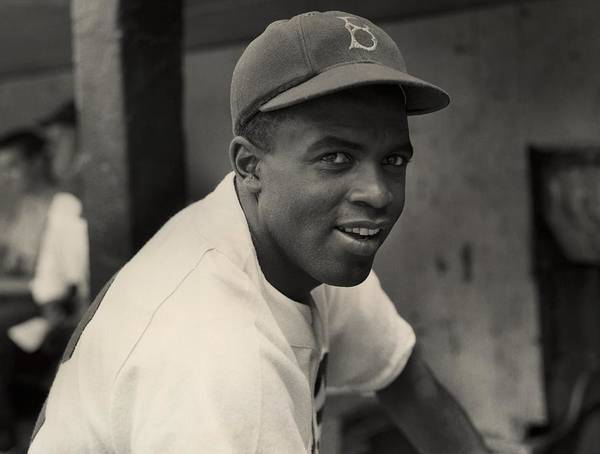 Jackie Robinson Art Print featuring the photograph Jackie Robinson by Hulton Archive