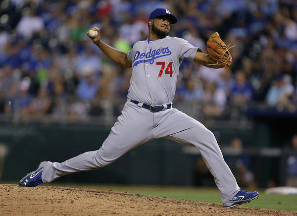 Ninth Inning Art Print featuring the photograph Kenley Jansen by Ed Zurga