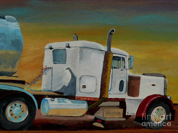 Truck Art Print featuring the painting King of the Road by Anthony Dunphy