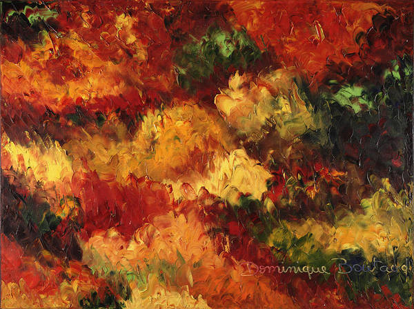 Abstract Art Print featuring the painting Le Feu et la Vie 14 by Dominique Boutaud