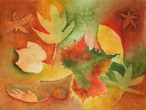 Leaves Art Print featuring the painting Leaves III by Patricia Novack