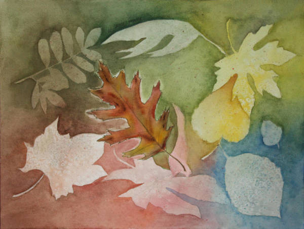 Leaves Art Print featuring the painting Leaves IV by Patricia Novack