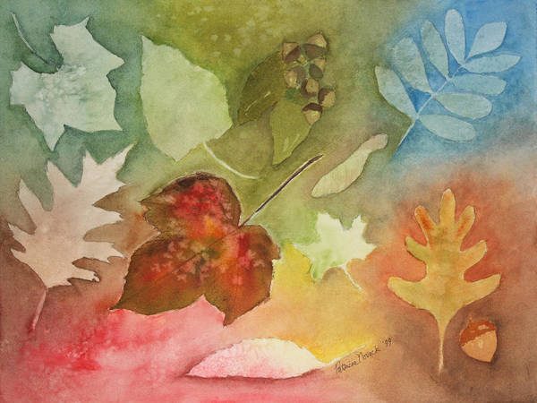 Leaves Art Print featuring the painting Leaves V by Patricia Novack