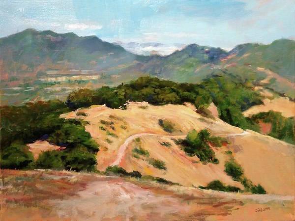 Golden Hills Art Print featuring the painting Marin Hills by Peter Salwen