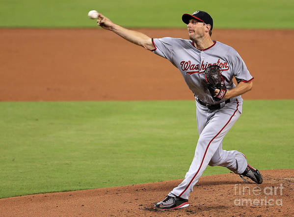 People Art Print featuring the photograph Max Scherzer by Mike Ehrmann