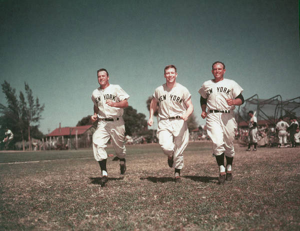 American League Baseball Art Print featuring the photograph Mickey Mantle by Hulton Archive
