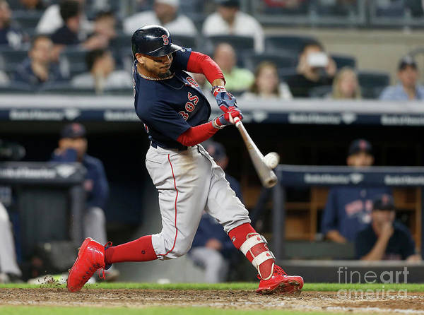People Art Print featuring the photograph Mookie Betts by Jim Mcisaac