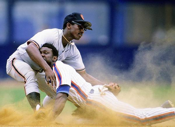 1980-1989 Art Print featuring the photograph Mookie Wilson by Ronald C. Modra/sports Imagery